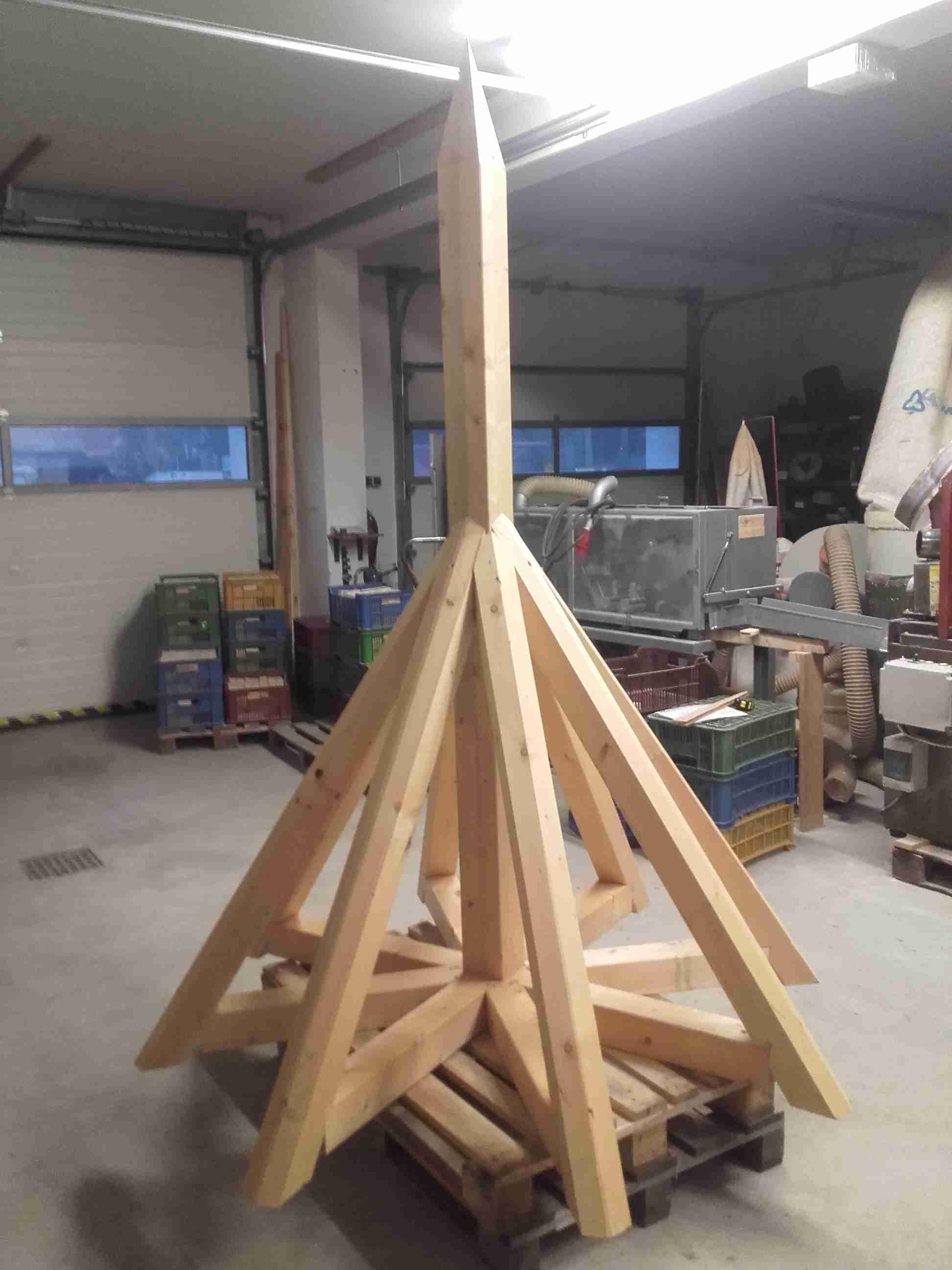 Šindelová střecha na věžičku, drdlík
