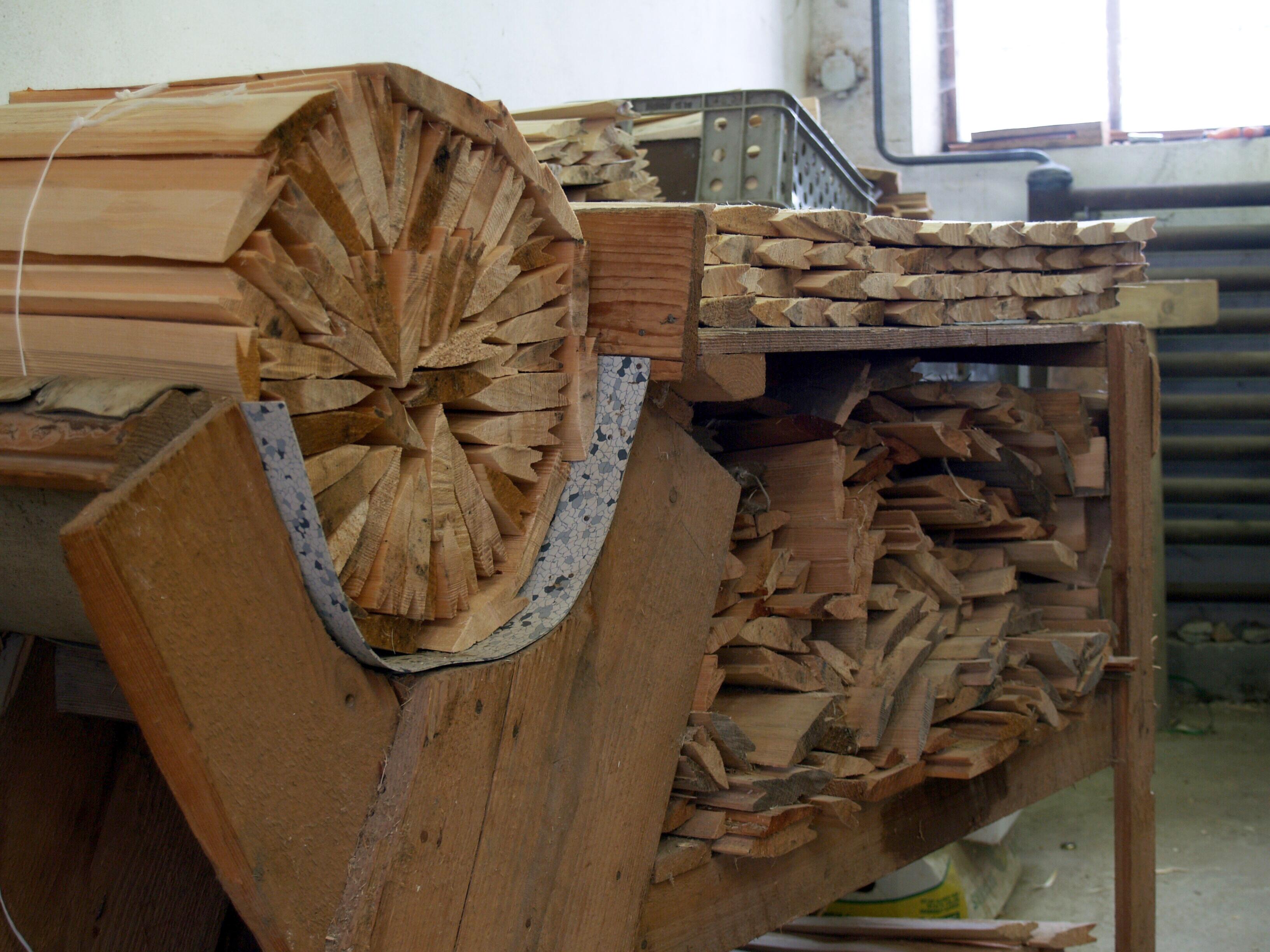 dřevěný šindel valašský, drdlík