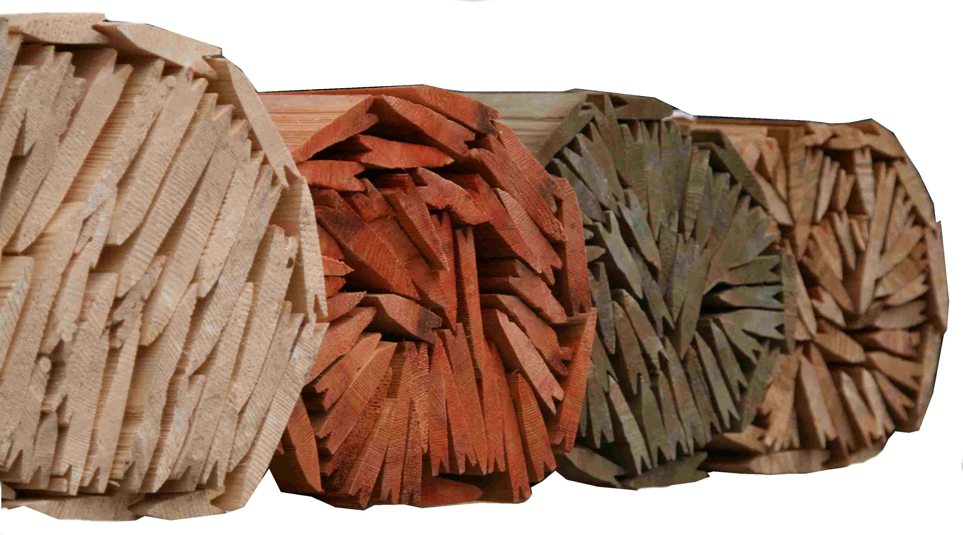 Ukázka impregnací dřevěného štípaného šindele, drdlík
