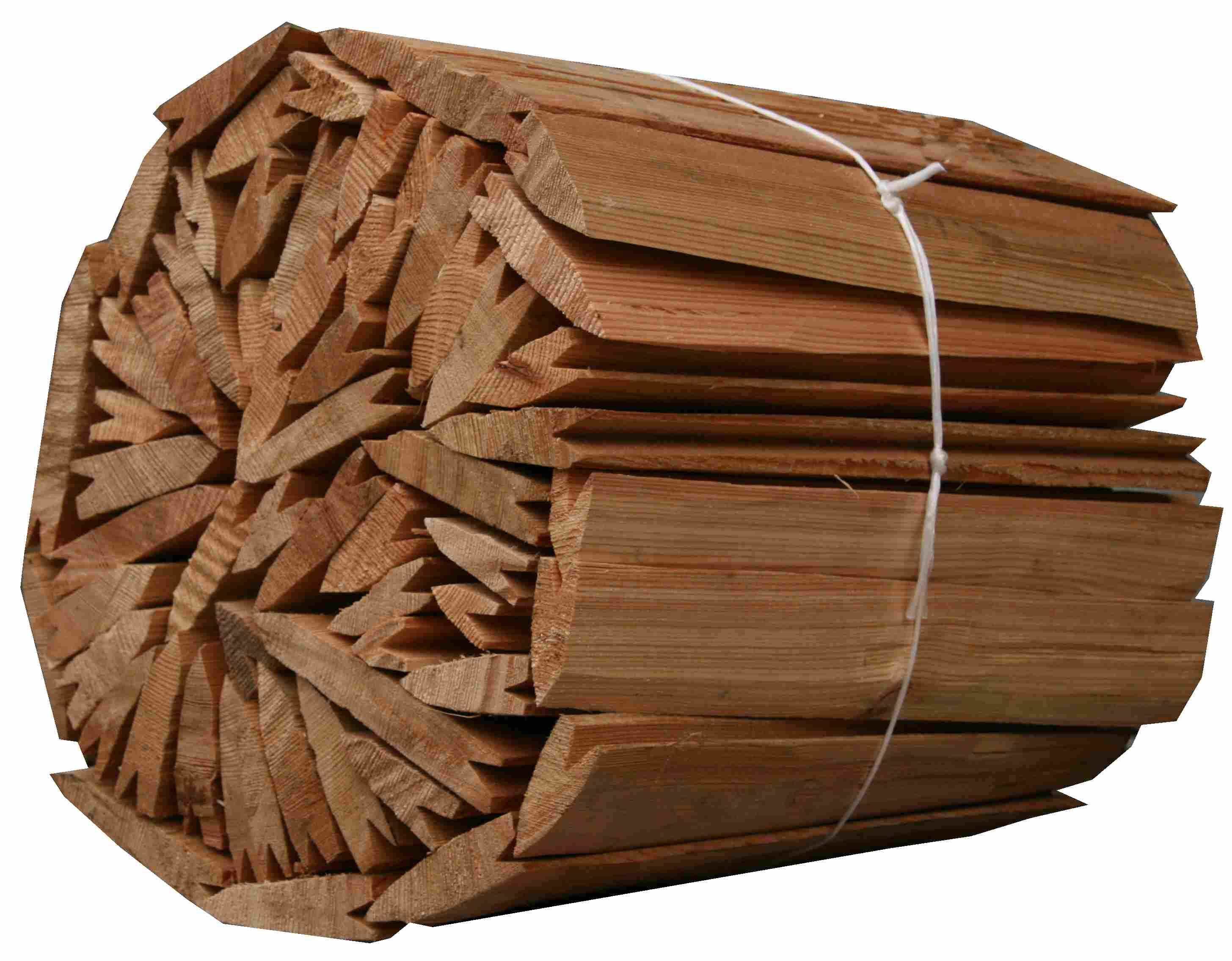 Štípaná dřevěný šindel- modřín