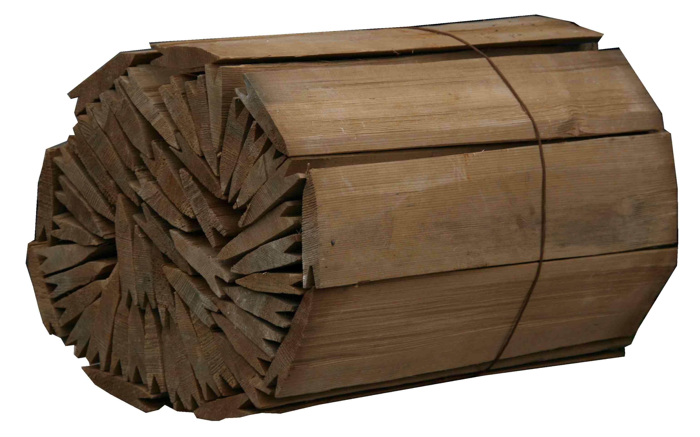 Dřevěný štípaný šindel- tlaková impregnace