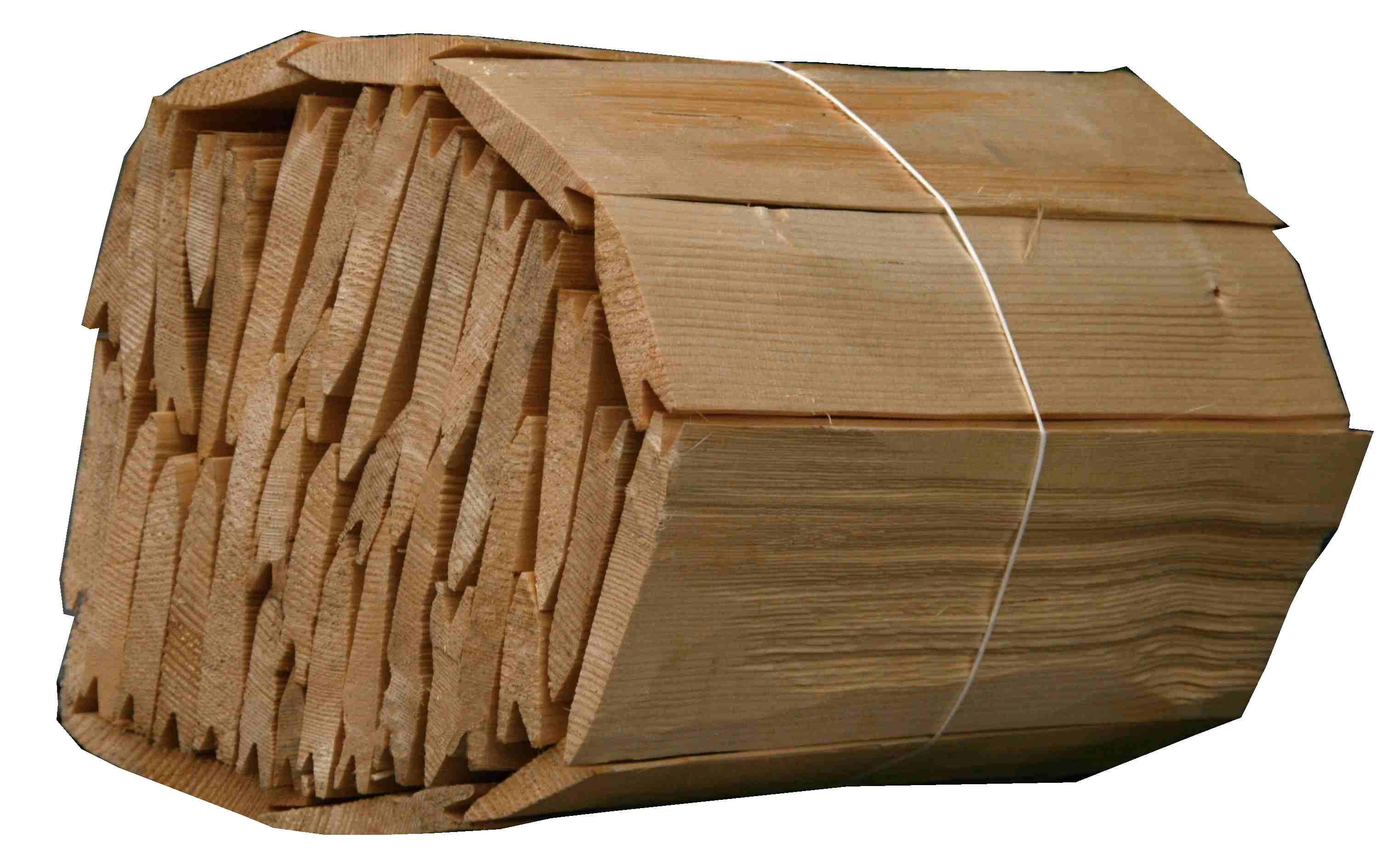 Dřevěný štípaný šindel- smrk, bezbarvá impregnace