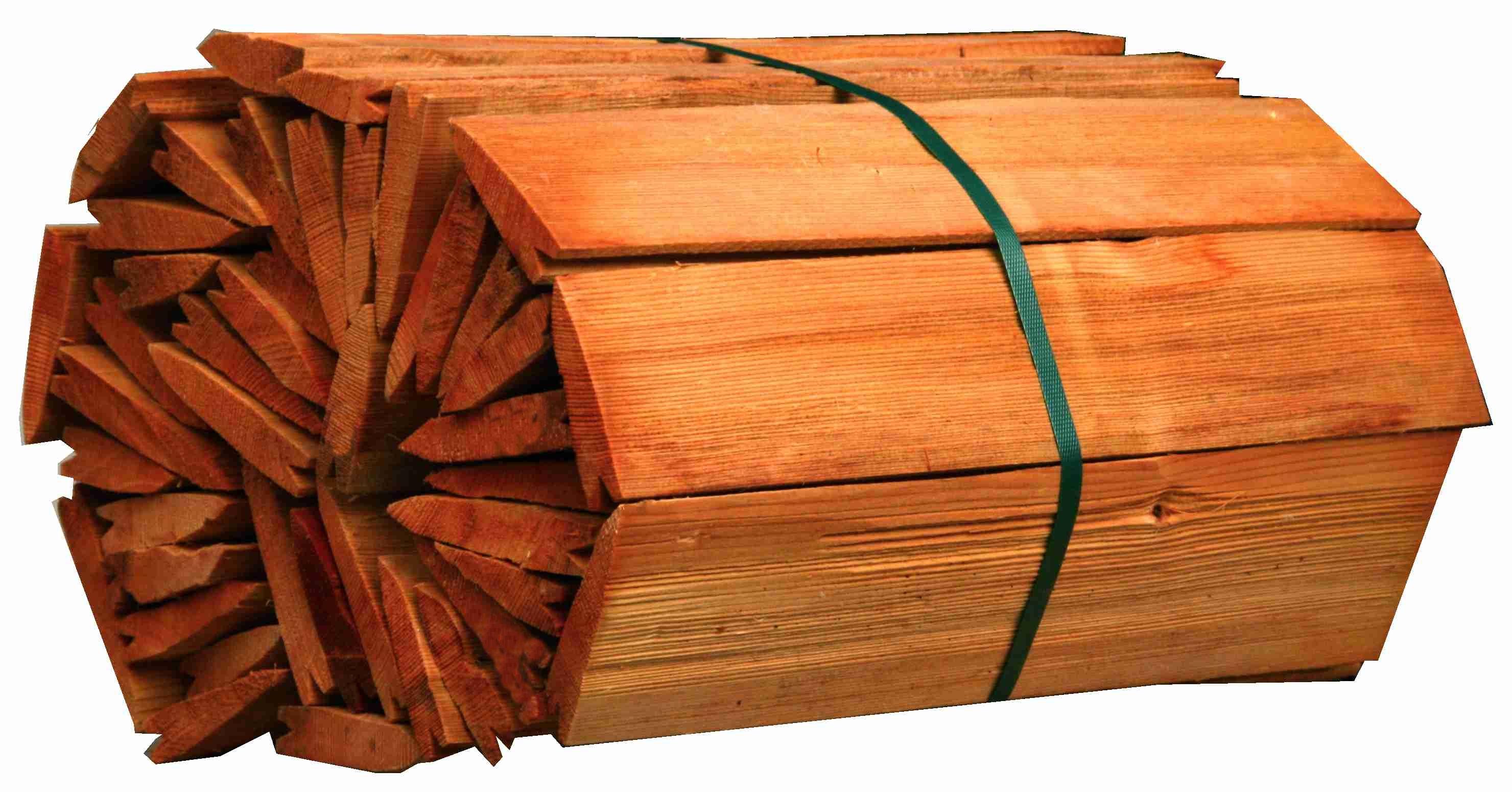 Dřevěný štípaný šindel- smrk, hnědá impregnace