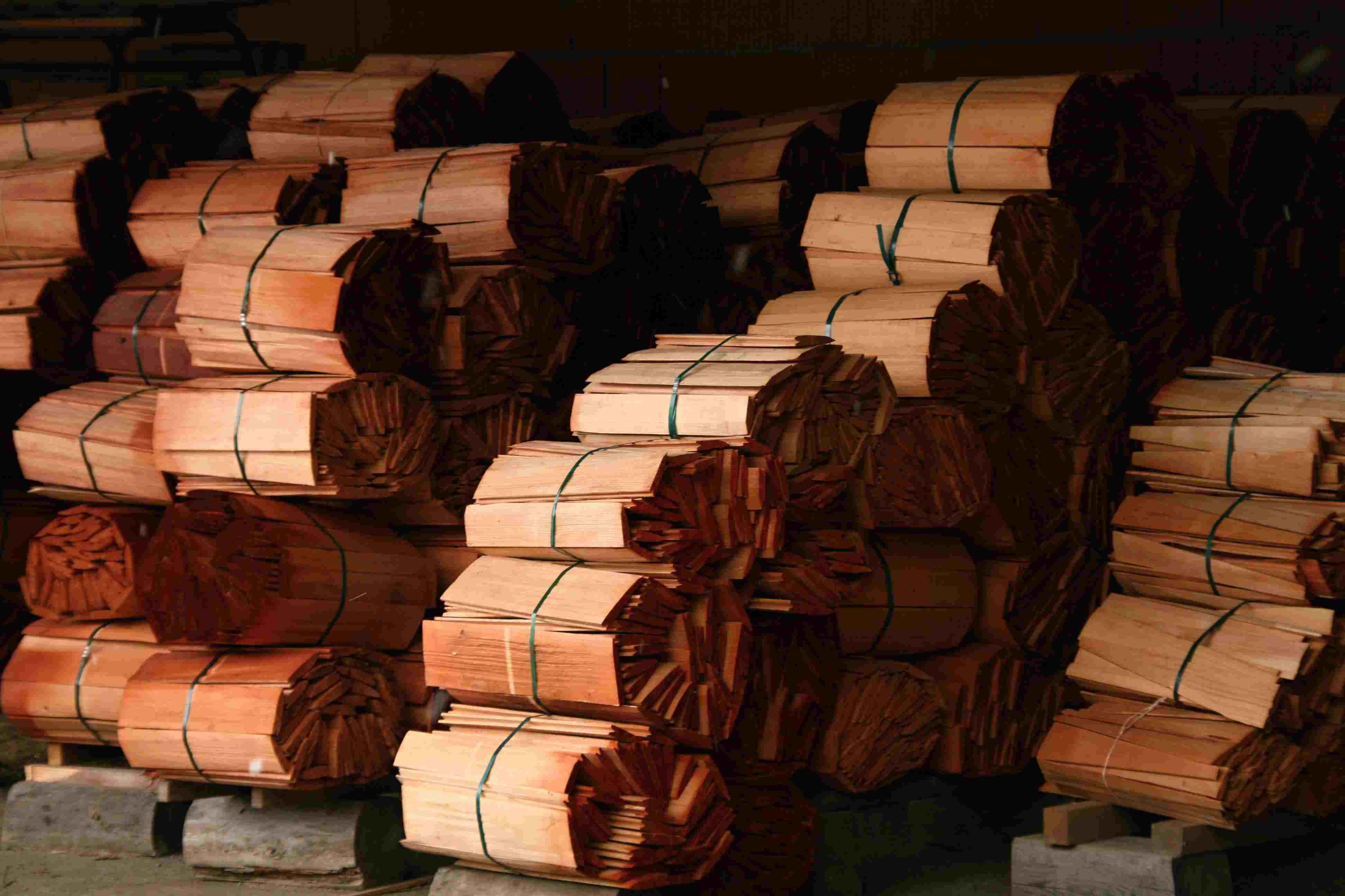 Dřevěný šindel valašský- skladování, drdlik