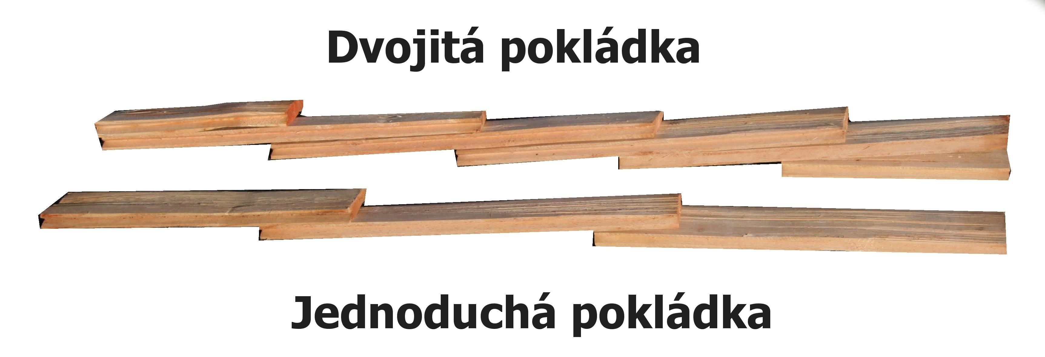 Základní druhy pokládky dřevěného šindele, drdlík