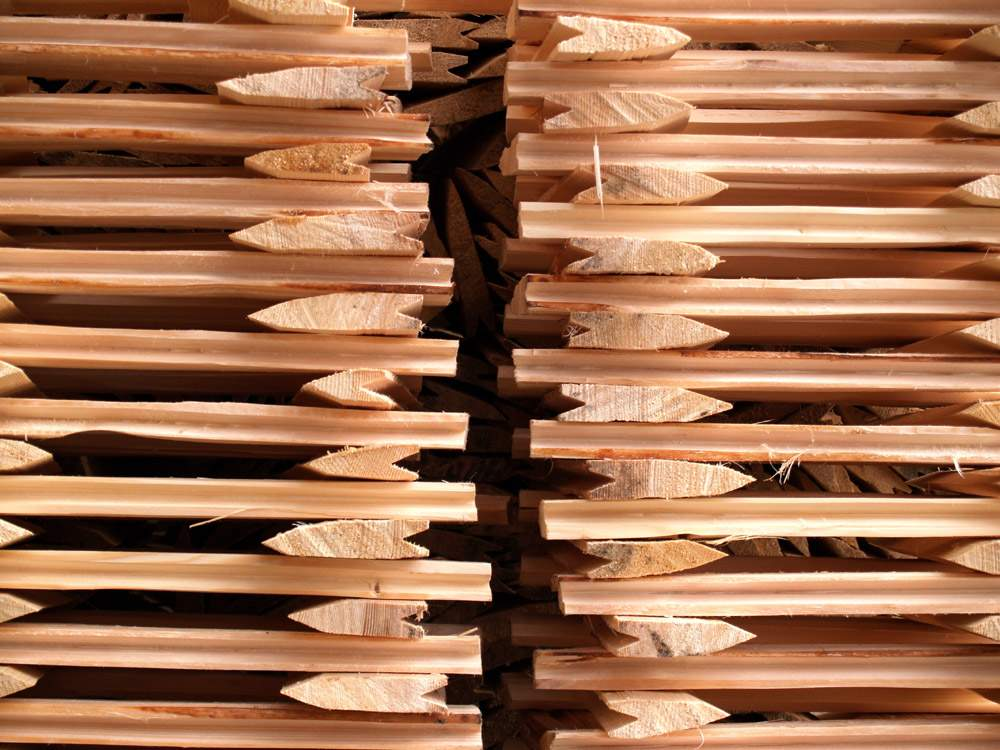 Dřevěný šindel- Sušení v hráních