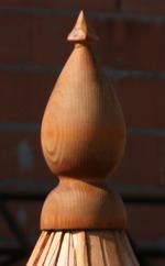 Drdlik- dřevěný ukončení stříšky ze šindele