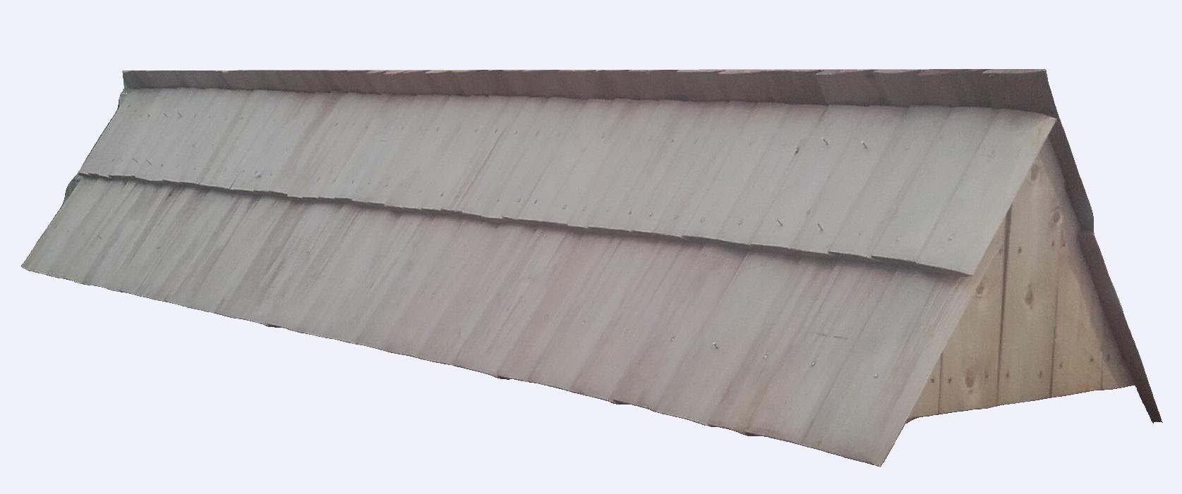 Drdlik- šindelové stříšky rovná střecha