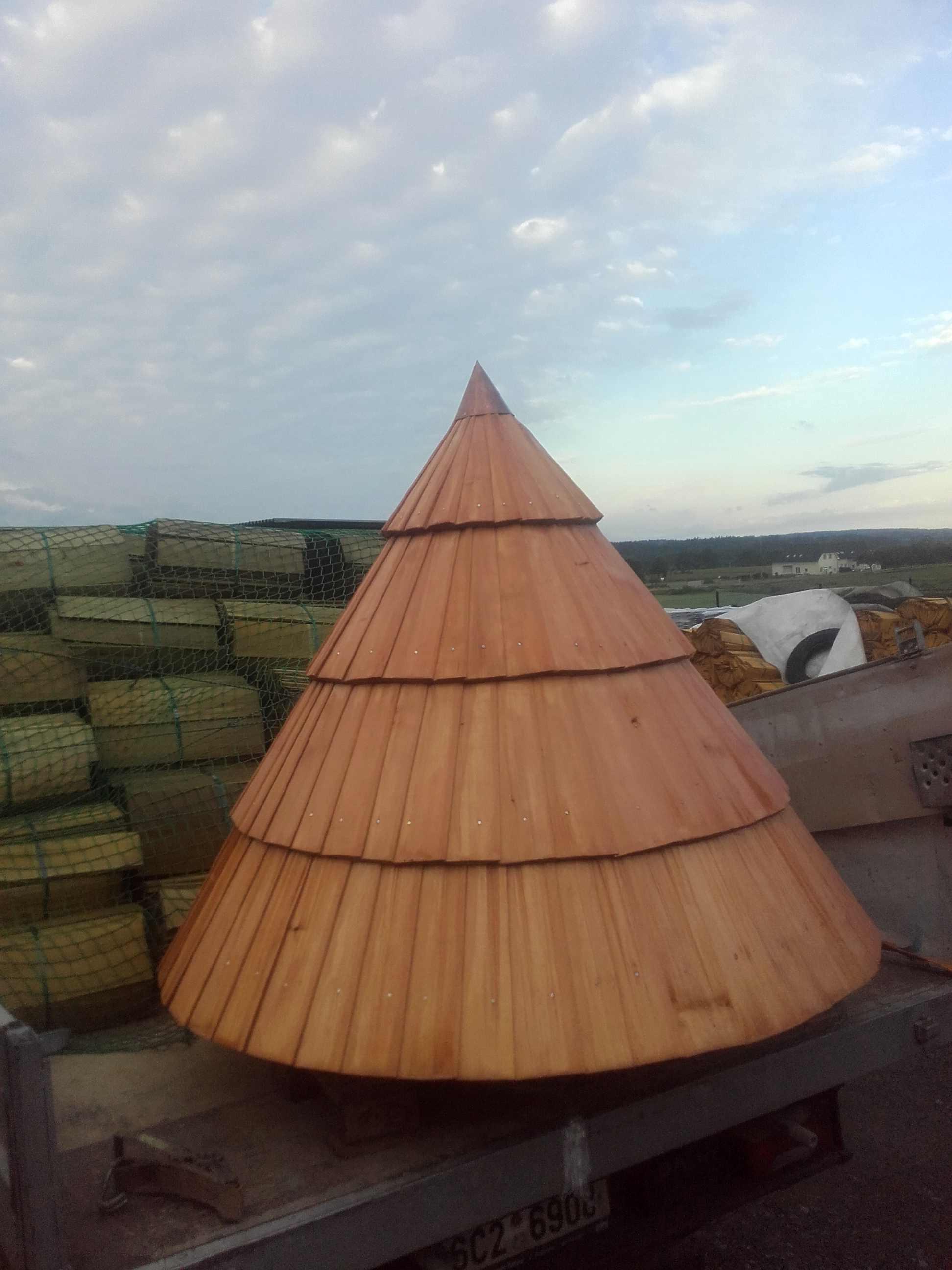 Stříška- dřevěný šindel